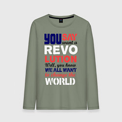 Мужской лонгслив The Beatles Revolution