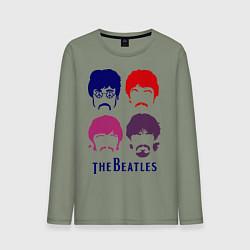 Мужской лонгслив The Beatles faces