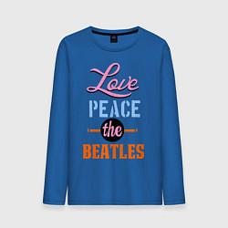 Мужской лонгслив Love peace the Beatles