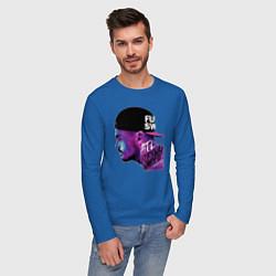 Лонгслив хлопковый мужской ATL цвета синий — фото 2