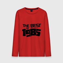 Лонгслив хлопковый мужской The best of 1985 цвета красный — фото 1