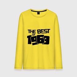 Лонгслив хлопковый мужской The best of 1969 цвета желтый — фото 1