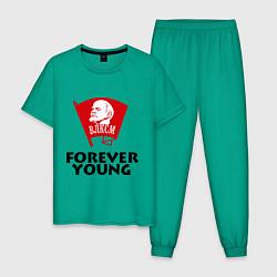 Пижама хлопковая мужская ВЛКСМ цвета зеленый — фото 1