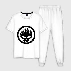 Пижама хлопковая мужская The Offspring: Sybmol цвета белый — фото 1