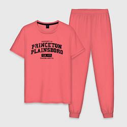 Пижама хлопковая мужская Princeton Plainsboro цвета коралловый — фото 1