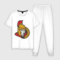 Пижама хлопковая мужская Ottawa Senators цвета белый — фото 1