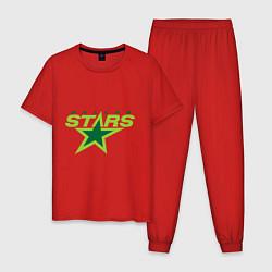 Пижама хлопковая мужская Dallas Stars цвета красный — фото 1