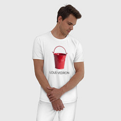 Пижама хлопковая мужская LOUS VEDRON цвета белый — фото 2