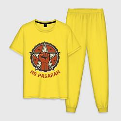 Пижама хлопковая мужская No Pasaran цвета желтый — фото 1