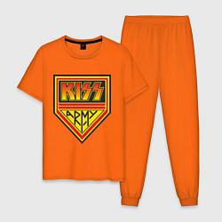 Пижама хлопковая мужская Kiss Army цвета оранжевый — фото 1