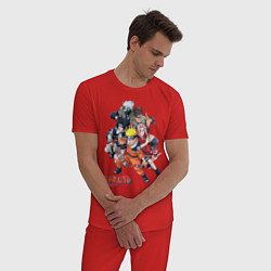 Пижама хлопковая мужская Naruto цвета красный — фото 2