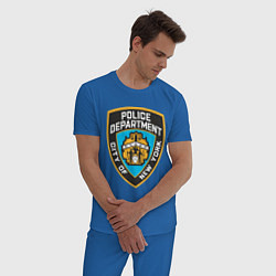 Пижама хлопковая мужская N.Y.P.D цвета синий — фото 2