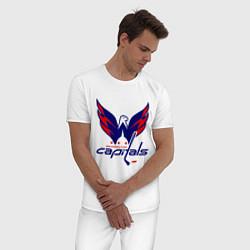 Пижама хлопковая мужская Washington Capitals: Ovechkin цвета белый — фото 2