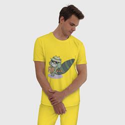 Пижама хлопковая мужская HTF: Lifty цвета желтый — фото 2