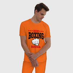 Пижама хлопковая мужская Kickboxing Russia цвета оранжевый — фото 2