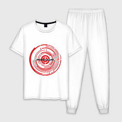 Пижама хлопковая мужская Pendulum цвета белый — фото 1