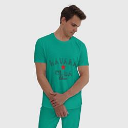 Пижама хлопковая мужская Havana Cuba цвета зеленый — фото 2