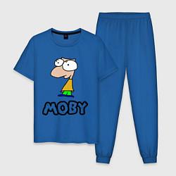 Пижама хлопковая мужская Moby цвета синий — фото 1
