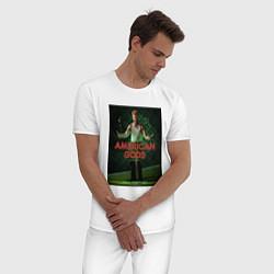 Пижама хлопковая мужская American Gods: Mad Sweeney цвета белый — фото 2