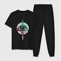 Пижама хлопковая мужская Братство волков цвета черный — фото 1