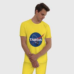 Пижама хлопковая мужская Tardis NASA цвета желтый — фото 2