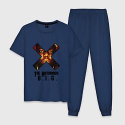 Пижама хлопковая мужская The Notorious BIG цвета тёмно-синий — фото 1