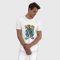 Пижама хлопковая мужская Blink-182: Fuck you цвета белый — фото 2