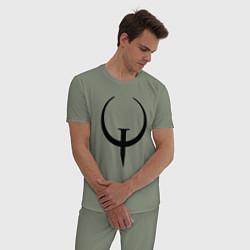 Пижама хлопковая мужская Quake champions цвета авокадо — фото 2