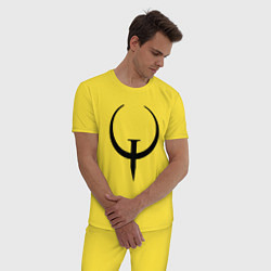 Пижама хлопковая мужская Quake champions цвета желтый — фото 2