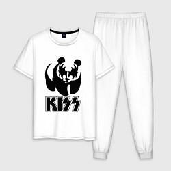 Пижама хлопковая мужская KISS Panda цвета белый — фото 1