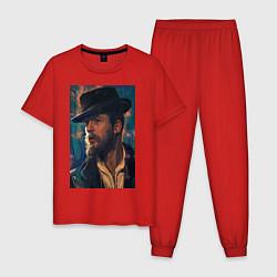 Пижама хлопковая мужская Peaky blinders цвета красный — фото 1
