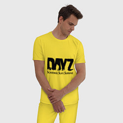 Пижама хлопковая мужская DayZ: Slay Survive цвета желтый — фото 2