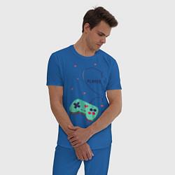 Пижама хлопковая мужская Perfect Team: Player 2 цвета синий — фото 2