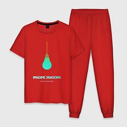 Пижама хлопковая мужская Imagine Dragons: Night Visions цвета красный — фото 1