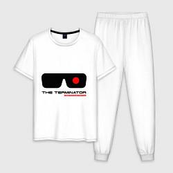 Пижама хлопковая мужская The Terminator цвета белый — фото 1