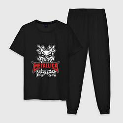 Пижама хлопковая мужская Metallica: Death magnetic цвета черный — фото 1