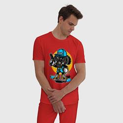 Пижама хлопковая мужская Street Savage цвета красный — фото 2