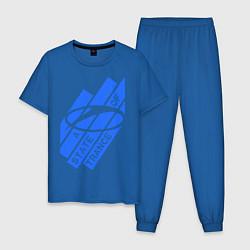 Пижама хлопковая мужская A state of trance цвета синий — фото 1