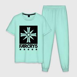 Пижама хлопковая мужская Eden's Gate: Far Cry 5 цвета мятный — фото 1