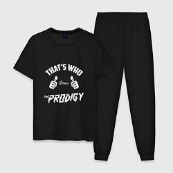 Пижама хлопковая мужская That's who love Prodigy цвета черный — фото 1