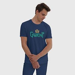 Пижама хлопковая мужская Gwent цвета тёмно-синий — фото 2