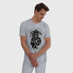 Пижама хлопковая мужская Sons of Anarchy: Redwood Original цвета меланж — фото 2