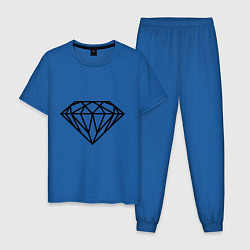 Пижама хлопковая мужская SWAG Diamond цвета синий — фото 1