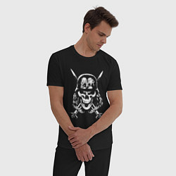 Пижама хлопковая мужская Slayer Pirate цвета черный — фото 2