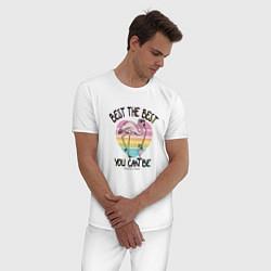 Пижама хлопковая мужская Best the Best: Flamingo цвета белый — фото 2
