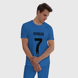 Пижама хлопковая мужская RONALDO 7 цвета синий — фото 2