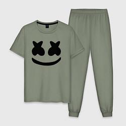 Пижама хлопковая мужская Marshmello цвета авокадо — фото 1