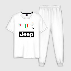 Пижама хлопковая мужская FC Juventus цвета белый — фото 1