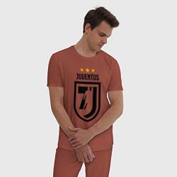 Пижама хлопковая мужская Juventus 7J цвета кирпичный — фото 2