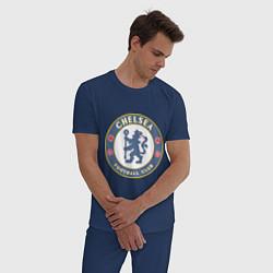 Пижама хлопковая мужская Chelsea FC цвета тёмно-синий — фото 2